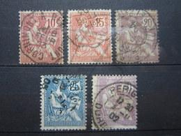 VEND TIMBRES DE FRANCE N° 124 - 128 !!! (a) - 1900-02 Mouchon