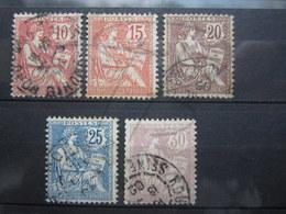VEND TIMBRES DE FRANCE N° 124 - 128 !!! (b) - 1900-02 Mouchon
