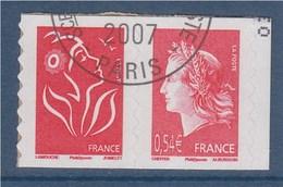 = Marianne De Cheffer Et Marianne De Lamouche Issus Du Carnet Autocollant P139 (139 Et 49b) Oblitéré ( Ex 3744b Et 4109) - France
