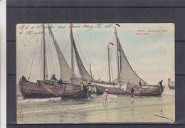 Belgique - Heyst Sur Mer - Carte Postale De 1906 - Oblit Heyst Sur Mer - Exp Vers Liège - Bateaux De Pêche - Heist