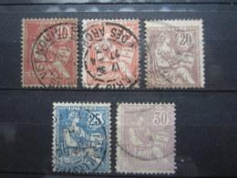 VEND TIMBRES DE FRANCE N° 124 - 128 !!! (e) - 1900-02 Mouchon