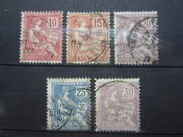 VEND TIMBRES DE FRANCE N° 124 - 128 !!! (g) - 1900-02 Mouchon