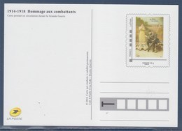 = Type MonTimbraMoi Monde 20g Entier CP Reproduction Carte Durant La Grande Guerre Hommages Aux Combattants Phil@poste - PAP:  Varia (1995-...)