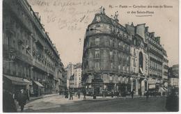 CPA 75 PARIS Carrefour Des Rues De Sèvres Et Des Saints-pères - Année 1908 - Frankrijk