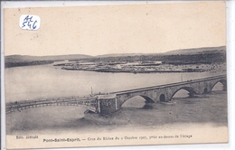 PONT-ST-ESPRIT- CRUE DU RHONE- 1907- 9 M 60 AU DESSUS DE L ETIAGE - Pont-Saint-Esprit