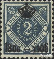 Württemberg D107 Favor Dévaluation Oblitéré 1906 Numéros Dans Diamond - Wuerttemberg