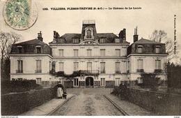VILLIERS, PLESSIS-TRÉVISE   Le Château De La Lande.   Carte écrite En 1900   2 Scans  TBE - Villiers Sur Marne