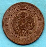 NO/  ARGENTINE  1 CENTAVO 1884 - Argentina