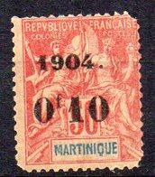 Col10    Martinique  N° 56 Neuf X MH Cote : 32,00 Euro Cote 2015 - Martinique (1886-1947)