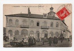 - CPA PREMERY (58) - L'Hôtel De Ville Un Jour De Marché 1927 - Edition H. WAYER N° 1 - - France
