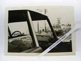 Citroen DS Passage à Niveau Train Autorail Renault ? Mars 1968 Vers Annecy Photo Originale Cliché Amateur Snapshot - Automobili