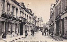EVREUX - Rue De La Harpe Et Hôtel Du Grand Cerf - Animé - Evreux