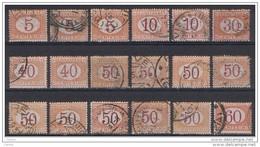 REGNO:  1890/94  TASSE  -  LOTTICINO  18  VAL. US. -  SASS. 20//26 - 1900-44 Victor Emmanuel III