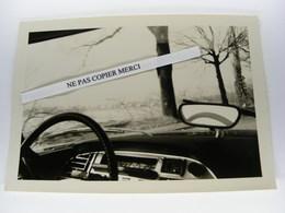 Citroen DS Sur La Route Nationale Depuis Tableau De Bord Mars 1968 Vers Annecy Photo Originale Cliché Amateur Snapshot - Automobiles