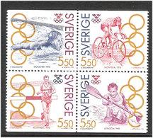 Sweden 1992 Swedish Gold Medalist Olympic Games, Larsson, Johansson, Gärderud, Fredriksson, Mi  1721-1724   MNH(**) - Schweden