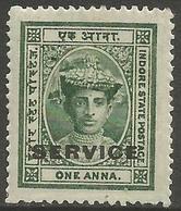 Indore (Holkar) - 1904 Official 1a MH *   SG S3  Sc O2 - Holkar