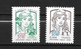 2018 - Marianne Surchargé - Paris Philex - 2013-... Marianne Of Ciappa-Kawena