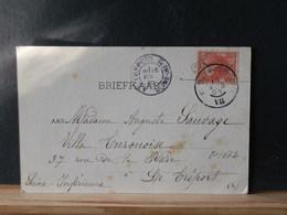 81/662  BRIEFKAART  1905 NAAR FRANKRIJK - Periode 1891-1948 (Wilhelmina)