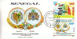 Drapeaux - Armoiries - Senegal - Lettre De 1982 - Oblit Confédération De La Senegambie - Omslagen