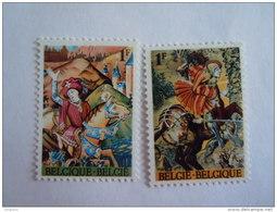 België Belgique 1967 Fondation Charles Plisnier En Lodewijk De Raet Wandtapijt Tapisserie COB Yv 1424-1425 MNH ** - Belgium