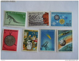 België Belgique 1966 Nationaal Wetenschappelijk Patrimonium Patrimoine Scientifique National COB YV 1374-1380 MNH ** - Belgien