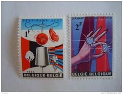 België Belgique 1965 Expo Textirama Textile  Daimantexpo Textiel Diamant  COB YV 1313-1314 MNH ** - Belgien