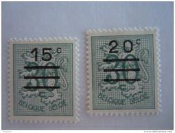 België Belgique 1960 Cijfer Op Heraldieke Leeuw Waardewijziging Timbre Surchargé COB YV 1172-1173 MNH ** - Ongebruikt