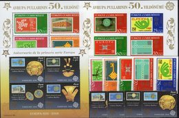 CEPT 2005 TK 3491/8 4ZD,Blocks 58/59,Peru 2030/3,VB,Bl.32 ** 62€ Ss Stamps On Stamp Blocs/sheet Bf 50 Years EUROPA - Europa-CEPT