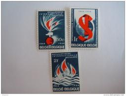 België Belgique 1964 Socialistische Internationale Centenaire De L'Internationale Socialiste Yv Cob 1290-1292 MNH ** - Belgien