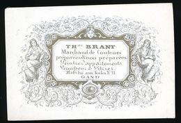 GENT  PORSELEINKAART 8 X 5.5 CM - TH.BRANT - MARCHAND DE COULEURS - MARCHE AUX TOILES N° 11 GAND - Gent