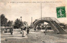 Reims -   La  Nouvelle  Passerelle  Sur  Le  Canal   - Reliant  La  Rue  De  Venise  Et  La  Rue  Du  Pont - Neuf - France