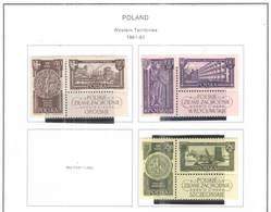 Polonia PO 1961/62 Territori Western   Scott.994/997+1000/1001 +See Scan On Scott.Page; - 1944-.... République