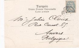 Lebanon-Liban Post/Card Frenc Post Office Beirut 1907, To Blegium,scan Verso,fine Condit-scarce-Red. Price - SKRILL PAY - Lebanon