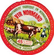 ETIQUETTE FROMAGE CAMEMBERT -  VIR NORMAND -   Fab En NORMANDIE  14 - Fromage