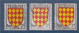 = Angoumois, Armoiries De Provinces, N°1003 Le Jaune Est Décalé Vers La Gauche, Le Rouge Plus Haut, Plus Bas, Les 3 Timb - Errors & Oddities
