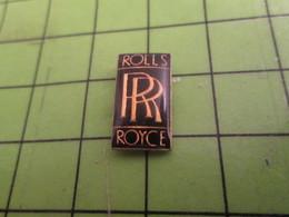 716c Pin's Pins / Beau Et Rare / THEME AUTOMOBILE : LOGO DE LA MARQUE ROLLS ROYCE - Badges