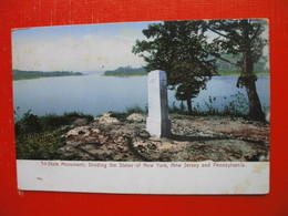Tri-State Monument;Dividing The States Of New York,New Jersey And Pennsylvania.Border/grenze.Sent To Ljubljana - Monuments