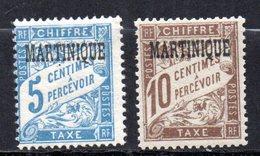 Col10    Martinique Taxe  N° 1 & 2 Neuf X MH  Cote : 4,50  Euro Cote 2015 - Timbres-taxe