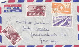 Lebanon-Liban Commercial Cover FURN AL CHEBACK 1960 To Germany,clear Cancel.,fine Cond.reduced Pr. SKRIL ONLY - Lebanon