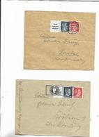 2 Briefe Mit Zusammendruck 1942! - Zusammendrucke