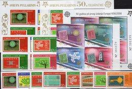 CEPT 2006 TK 3491/4,2VB,Blocks 58/59,Crna Gora 108/1 VB+Bl.2 ** 124€ Ss Stamps On Stamp Blocs/sheet 50 Year EUROPA - Emissions Communes