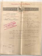 1908 MARSEILLE SAINT LOUIS / HUILERIE SAINT MARIE / TOURTEAUX SULFURES JULES DEISS / DESSIN LE LABOUREUR   B542 - France