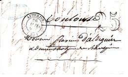 MARQUE POSTALE LAC   30  AUTERIVE  MAI 1851   TAXE TAMPON 25 - 1849-1876: Classic Period
