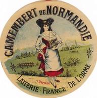 ETIQUETTE FROMAGE CAMEMBERT -  DE NORMANDIE -   Fab En NORMANDIE  ORME  61 - Cheese