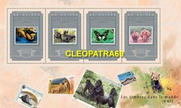 GUINEA 2015 WWF STAMP ON STAMP ANIMALS SHEET 4V PERF S11358-5 - Stamps On Stamps