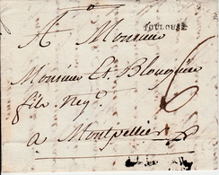 MARQUE POSTALE LAC 30 TOULOUSE A MONTPELLIER   1791 - Storia Postale