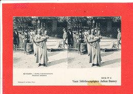 75 PARIS Jardin D ' Acclimatation Cpa Animée Stéréoscopique Femme Achantis 6 Julien Damoy - Parks, Gardens