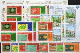 S/s CEPT 2006 TK 3491/4,2VB,Blocks 58/59,Bosnia 339/2 VB,Bl.13A ** 94€ Stamps On Stamp Blocs/sheets 50 Years EUROPA - Bosnie-Herzegovine