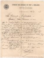 1908  SYNDICAT DES OUVRIERS DU PORT  / CONFEDERATION GENERALE DU TRAVAIL LOGO CGT  / PORT SAINT LOUIS DU RHONE  B546 - Francia