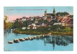 Semur - Les Bords De L'Armançon Et L'église Notre Dame - 161 - Semur